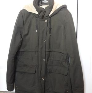 Zara outerwear collection olive green jacket sz L